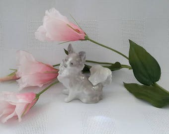 Lladro Papillon Dog Figurine, Made in Spain