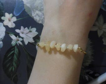 Aragonite Bar Bracelet   Aragonite Gemstone Bracelet   Gemstone Bracelet