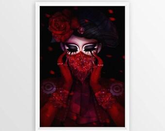 """Valentina - Maskgate [12""""x18""""] Art Print"""