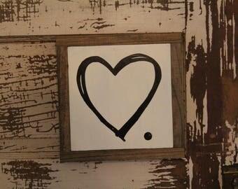 Heart Wood Sign, Gift, Wedding, Farmhouse, Gallery, Wall