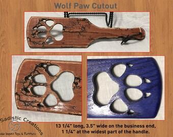 BDSM Small Wolf Paw Cut Spanking Paddle