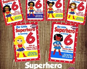 Wonder Woman Birthday Digital Invitation/Printable Invitation/Wonder Woman Party/Wonder Woman Birthday/Girl Birthday/Wonder Woman Theme