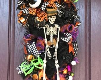 Halloween Swag Wreath, Halloween Door Wreath, Halloween Decor, Fall Decor, Halloween Door Hanger