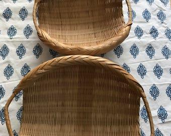 Set of 3 semi flat baskets
