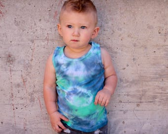 Blue and Grey Tie Dye