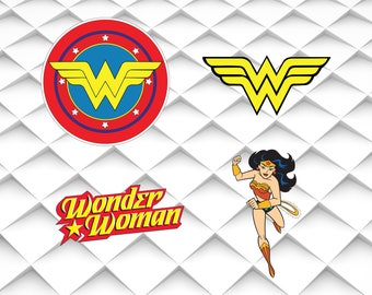 Wonder Woman svg,jpg,eps,png for Design/Print/ Silhouette Cameo/Cricut& Many More