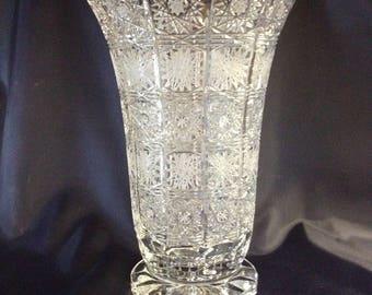Czech bohemia crystal glass - Cut vase 41cm