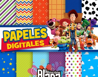 12. digital papers 12 X 12 Toy Story + 10 Free Clipart