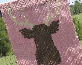 Crochet Deer Baby Blanket