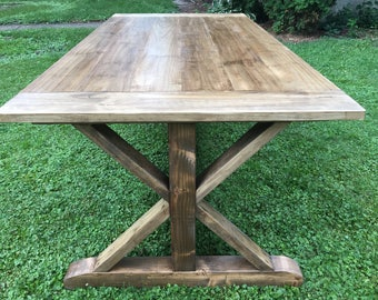 Farmhouse Dinning Table with X base