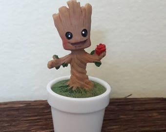 Baby Groot miniature figurine terrarium baby groot gaurdians of the galaxy fairy garden terrarium decoration