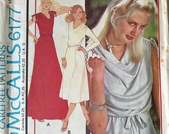 Vintage McCalls 6177 Dress or top 70's Sewing Pattern