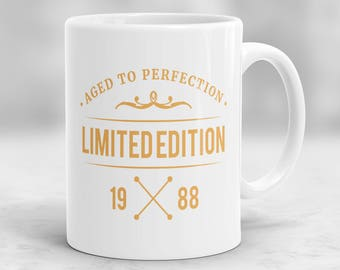 30th Birthday Mug, 30th Birthday Present Idea, 30th Birthday Gift, 1988 Birthday Mug, 30th Birthday Idea, Birthday Gift for 30 year old P5