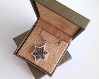 Silver Star of David Necklace Magen David