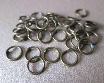 100 jump rings / jump metal bronze 6 mm