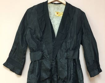 Edwardian 1910 black silk A. Goldstein Pittsburgh,Pa JACKET