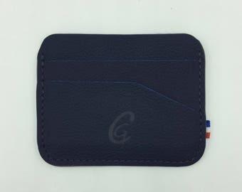 Round Navy blue card