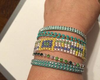Woven Cuff Bracelet handmade.