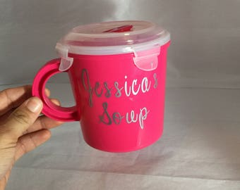 Soup Bowl, lunch bowl, soup cup, thermos for soup, personalized lunch bowl
