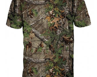 New ultramodern 3D  High Quality Outdoor Hunting 3D Real Tree Camouflage T-shirt