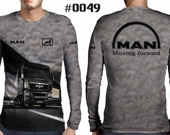 New ultramodern 3D  High Quality  Mens  Long Sleeve Black T-shirt Truck MAN
