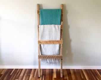 """Rustic Blanket Ladder - Vintage Reclaimed Barn Wood - 5' x 20"""""""