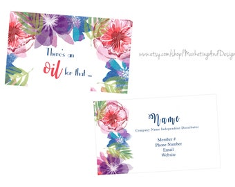 Essential Oil Business Card, Affordable Business Cards, Marketing Printable, Branding, Young Living