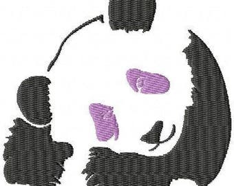 panda embroidery design embroidery pattern