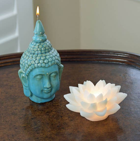 LED Lotus Flower Candle - Battery Powered