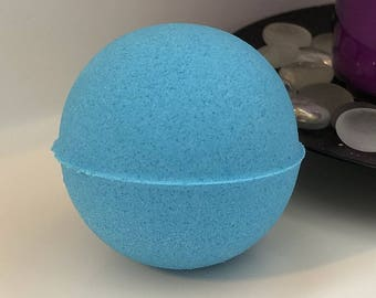 Blueberry Muffin Bath Bomb Bath Fizzer W/ Shea Butter Coconut Oil Epsom Salt 3 oz / 5 oz / 7 oz Baseball Size Handmade FREE SHIPPING (US)