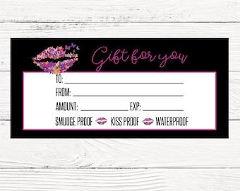 Butterfly Lipsense gift certificate, Lip bucks LipSense GC, Senegence gift Card, Lipsense business gift card, gift card, INSTANT DOWNLOAD