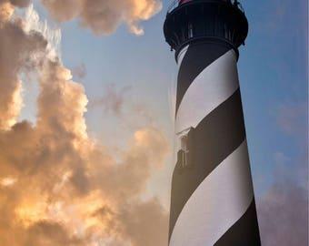 Sailor's Delight - Lighthouse - St. Augustine - Historic Architecture - Lighthouse Photo - Photography Print - Sunset Lighthouse - Art Print