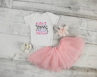 Little Miss Jelly Bean Onesie, Baby Onesie, Baby outfit