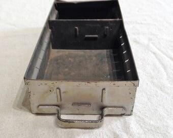Rustic Industrial Metal Tool Box Storage Drawer Shabby Chippy Industrial Farmhouse Garden Planter