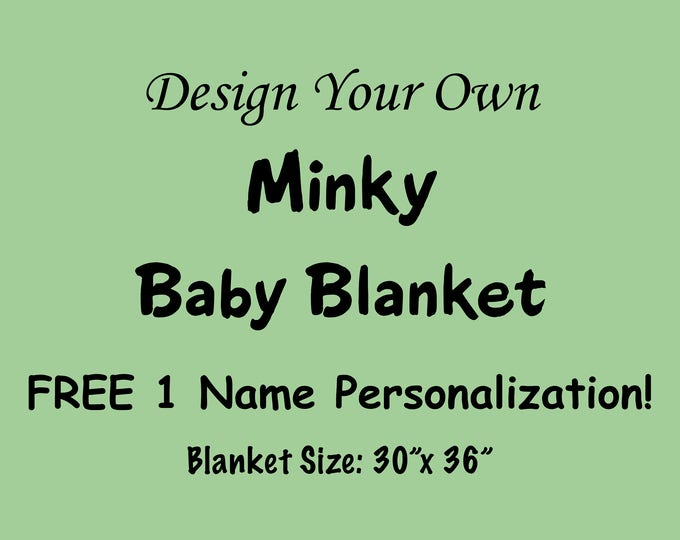 Personalized Baby Blanket, Minky Baby Blanket, Baby Boy Blanket, Baby Girl Blanket, Monogrammed Blanket, Toddler Blanket, Stroller Blanket