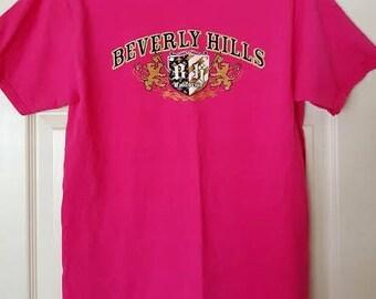 VINTAGE Beverly Hills pink t-shirt