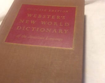 10 pages of Vintage Webster's New World Dictionary
