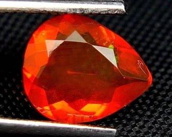 Feuer Opal - Fire Opal - 9,70mm * 8,00mm * 4,10mm - 1,170ct