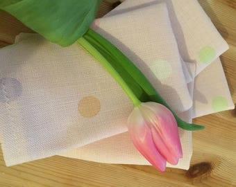 shabby chic polka dot cotton napkins