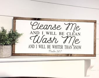 Cleanse Me, Wash Me Farmhouse Style, Laundry, Laundry Room Sign, Farmhouse Wood Sign, Rustic Decor, Wood Signs, Home Decor, Wall Decor