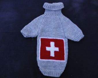 Dog coat. Swiss flag. Size S