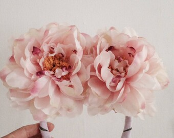 Wreaths of flowers peonies / wedding / accessory / Wedding / hair / / Photobooth