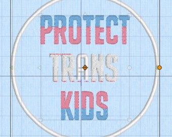 Protect Trans Kids patch - transgender trans rights lgbtq lgbtqipa lgbtq+ queer