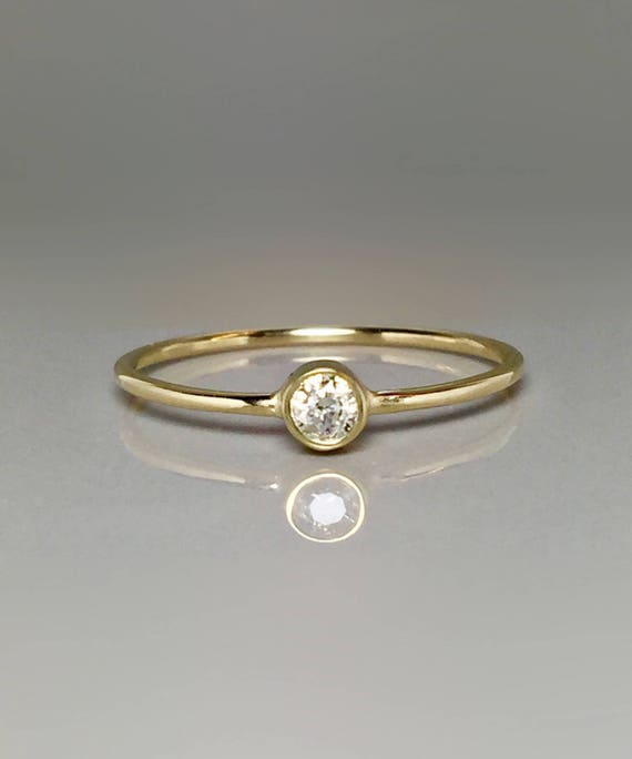 Sale 10k Solid Gold Birthstone Ring Kids Teen Birthstone