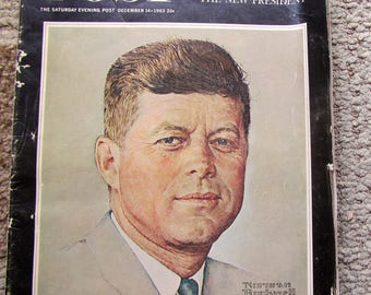 Saturday Evening Post Magazine, December 14, 1963, John F Kennedy Memorial Edition