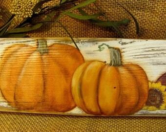 Pumpkins for Sale Wood Sign