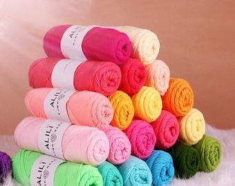 10 Pcs Soft Milk Cotton Yarn