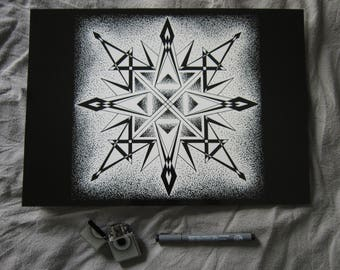 Black Compass - Poster - Limited Edition