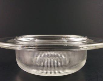 Vintage Heller L&M Vignelli Glass Ramekins Bakeware Dish Bowl Modern Oven