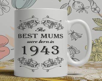 Mum 75th birthday mug mum 75 birthday mug for mum gift ideas for mum present for mum, Any year available on request FF B Mum 1943